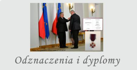 Odznaczenia i dyplomy